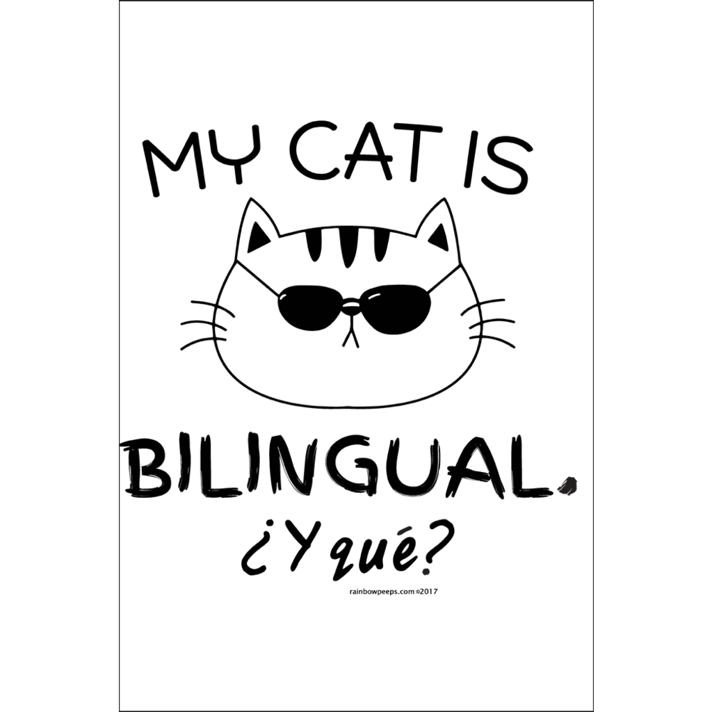 MY CAT IS BILINGUAL Poster