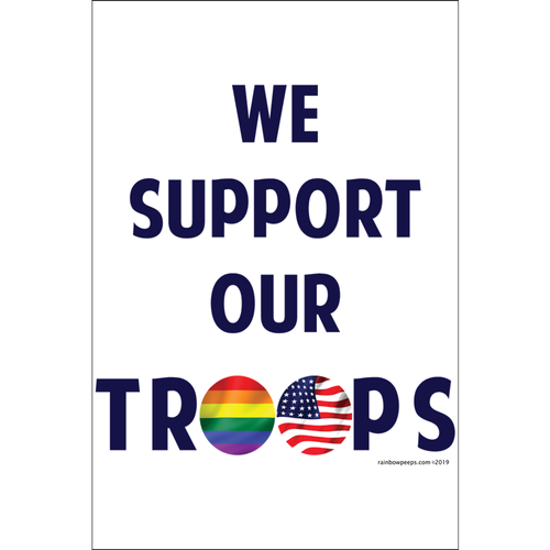 WE SUPPORT OUR TROOPS Poster