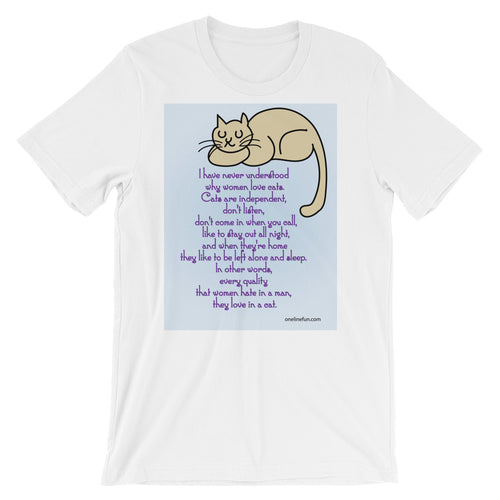 CATS TRAITS ARE MAN'S RUIN Short Sleeve Unisex T Shirt