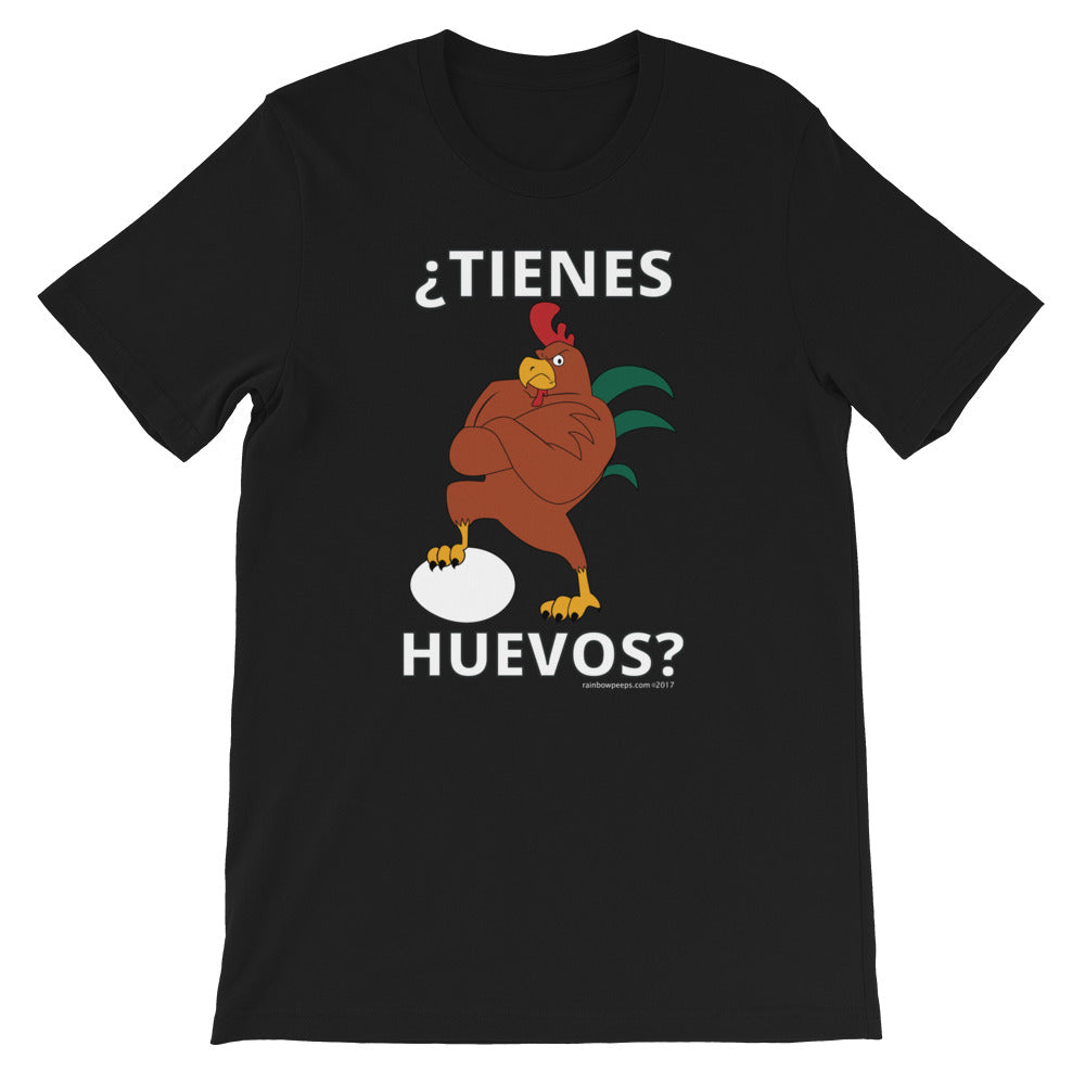 ¿TIENES HUEVOS? Cocky Rooster Short Sleeve T-shirt