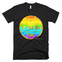 PRIDE Gold Letters on Rainbow Colors Background Unisex T-Shirt