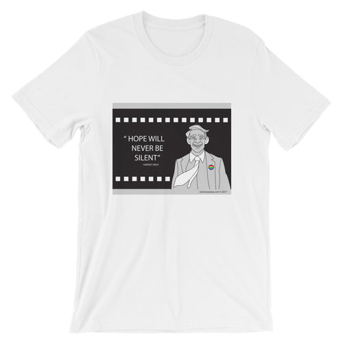 HARVEY MILK 'Hope Will Never be Silent' Unisex T Shirt