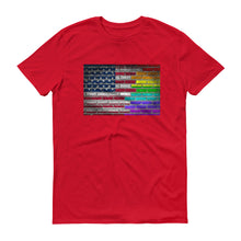 USA & LGBT PRIDE FLAGS UNISEX T SHIRT