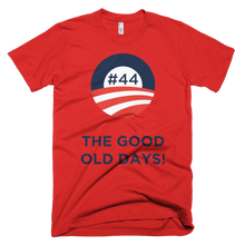 #44 THE GOOD OLD DAYS Blue Letters Unisex T shirt