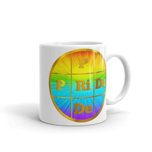 PRIDE Gold Letters on Rainbow Background Exclusive Design Coffee Mug