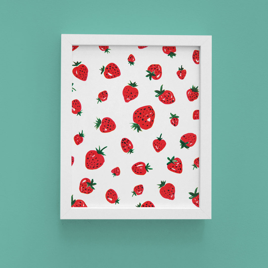 Strawberry 8x10 Art Print
