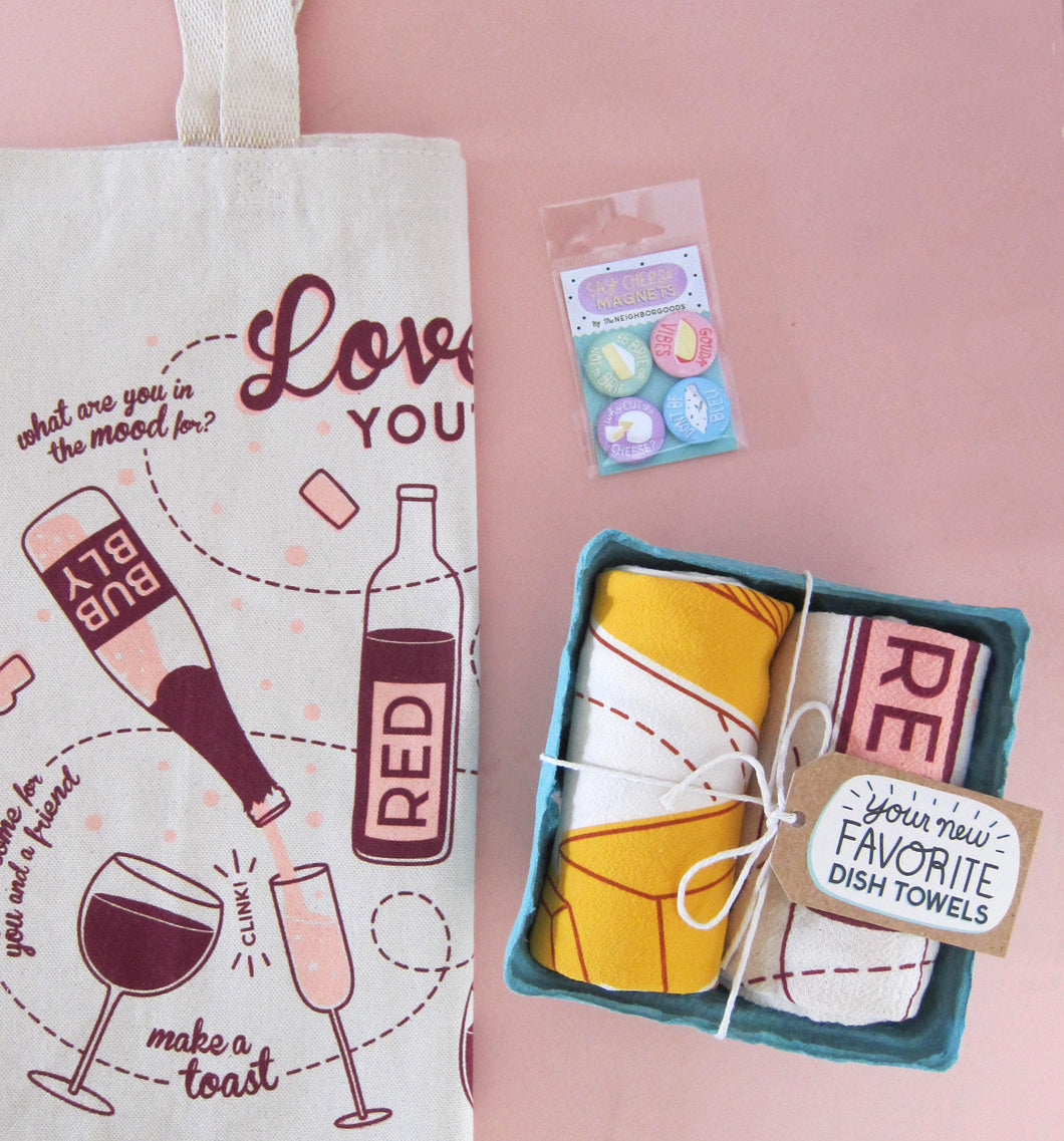 Wine and Cheese Gift Bundle