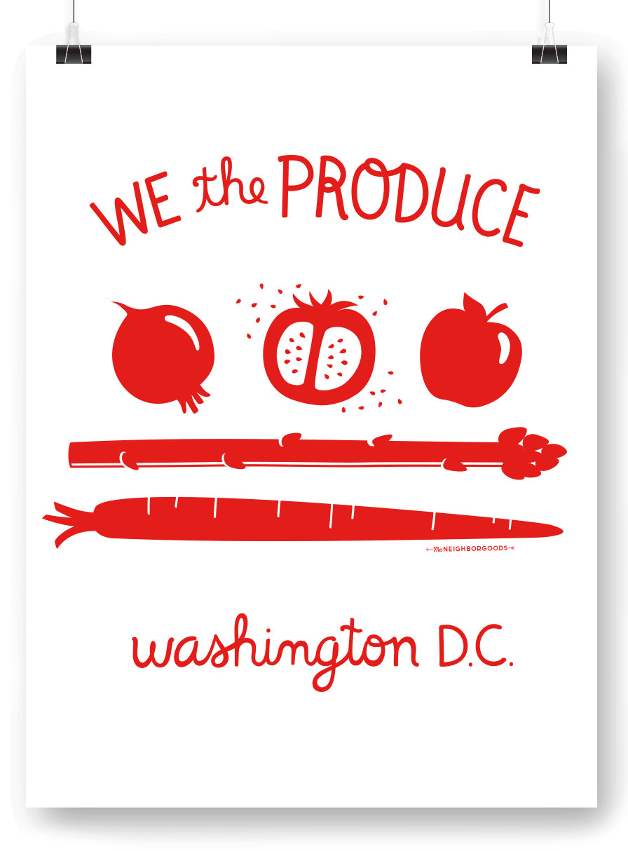 DC Produce Flag Art Print