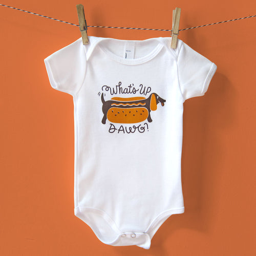 Doxie Hot Dog Baby One-Piece_SECONDS