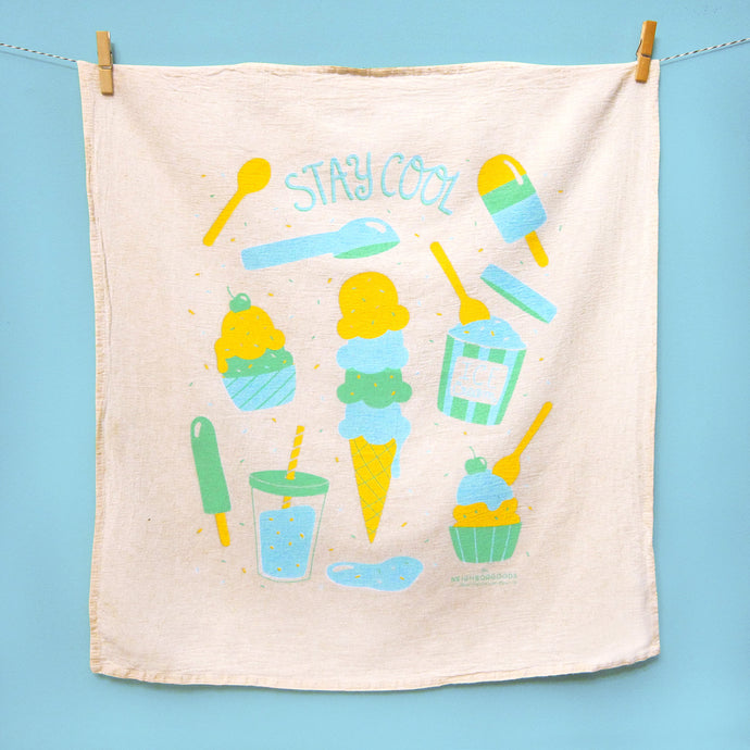 Stay Cool Ice Cream Dish Towel