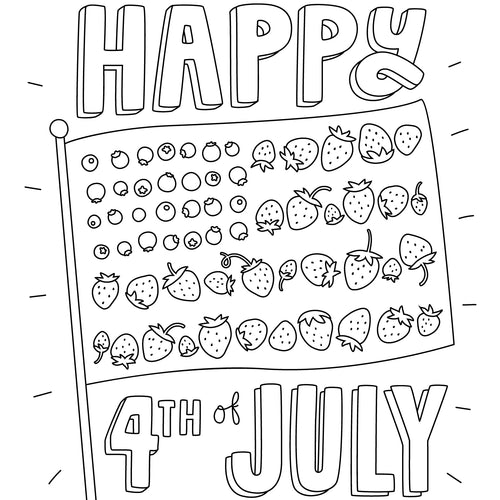 FREE! 4th of July Coloring Page