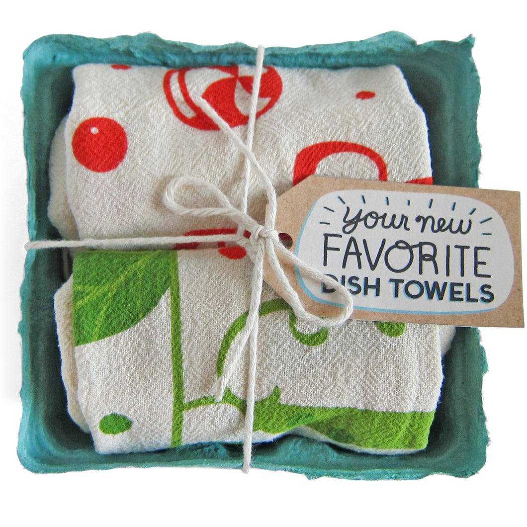 Happy Holidays - Dish Towel Set of 2