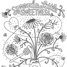 FREE! Spread a Little Sweetness Coloring Page
