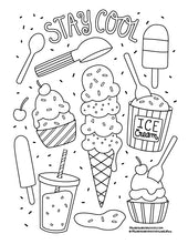 FREE! Stay Cool Coloring Page