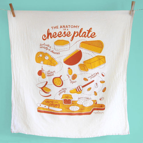 Cheese Plate Dish Towel_SECONDS