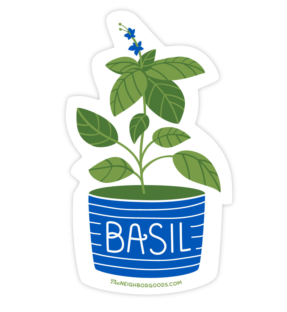 Basil Herb Sticker