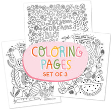 SET OF 3 Coloring Pages (50% PROFITS GO TO SUPPORT WHO)