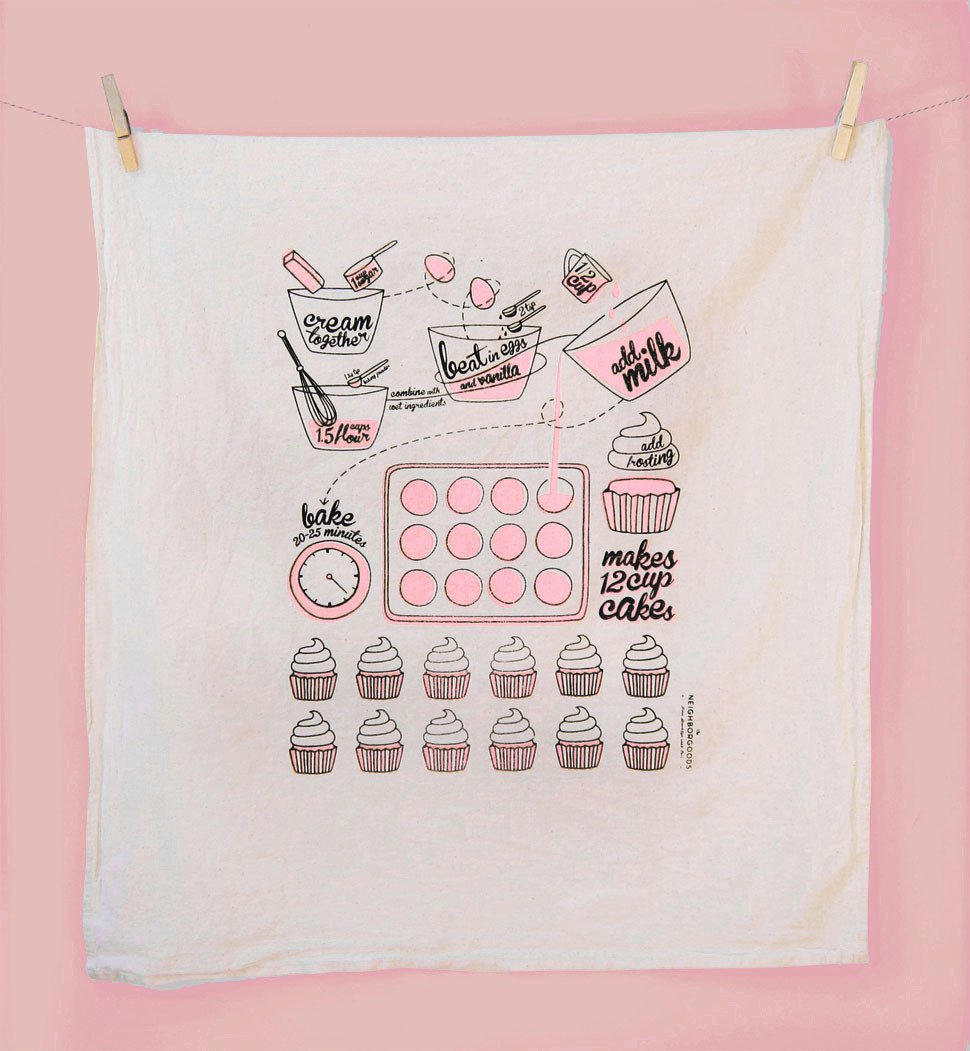 Pink Cupcake Towel_SECONDS