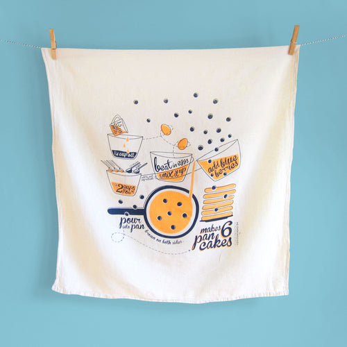 Pancake Recipe Dish Towel