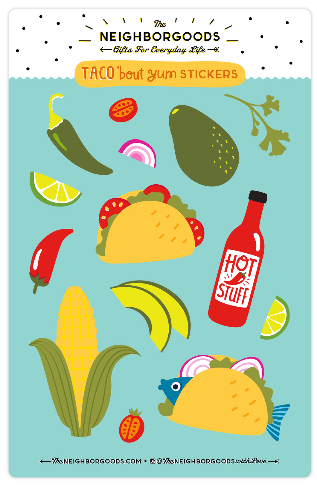 Taco 'bout Yum Sticker Sheet