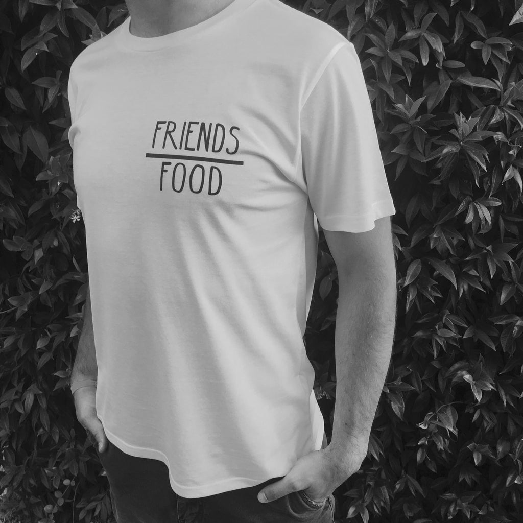 'Friends over Food' organic cotton tee