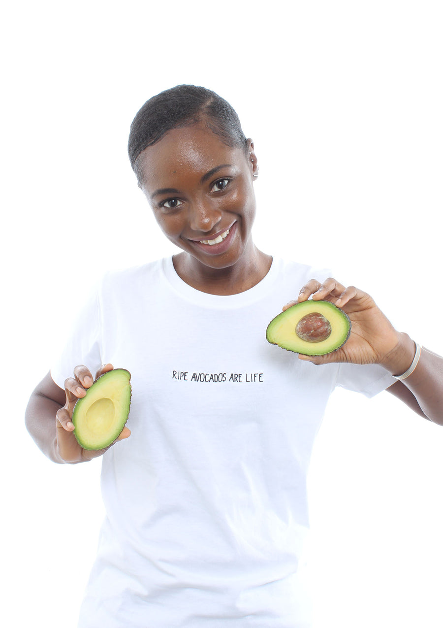 'Ripe Avocados Are Life'™ organic cotton tee