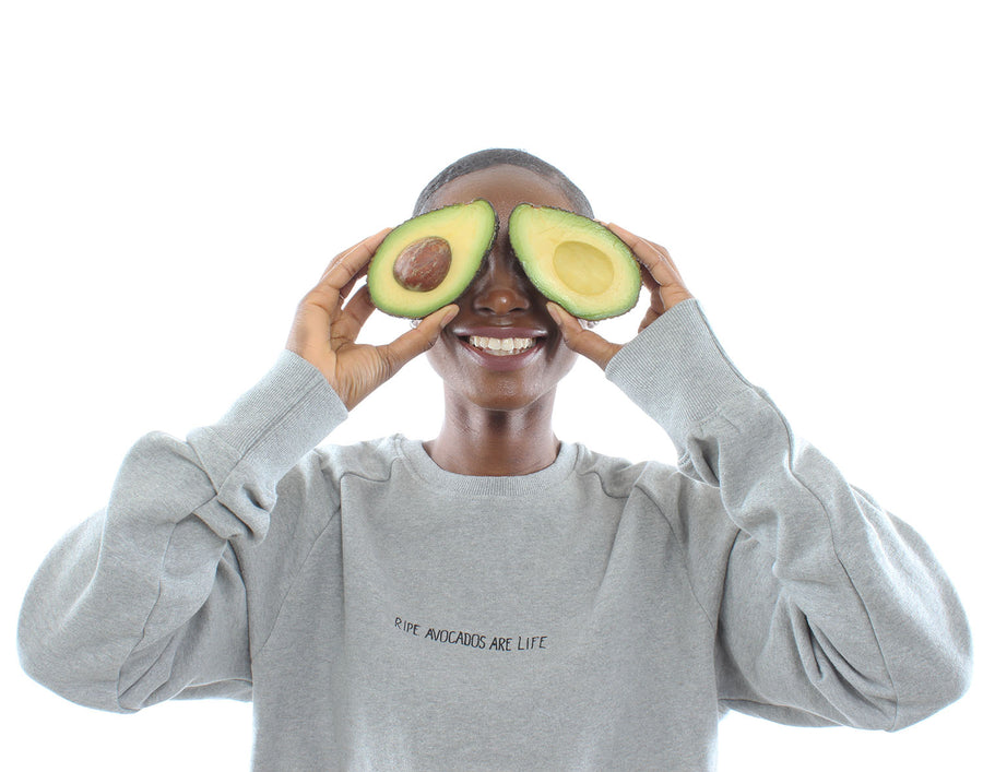 'Ripe Avocados Are Life'™ organic cotton SWEATSHIRT