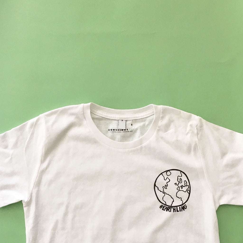 'Earthling' organic cotton tee