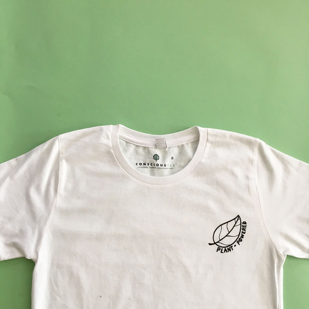 'Leaf Plant-Powered' organic cotton tee