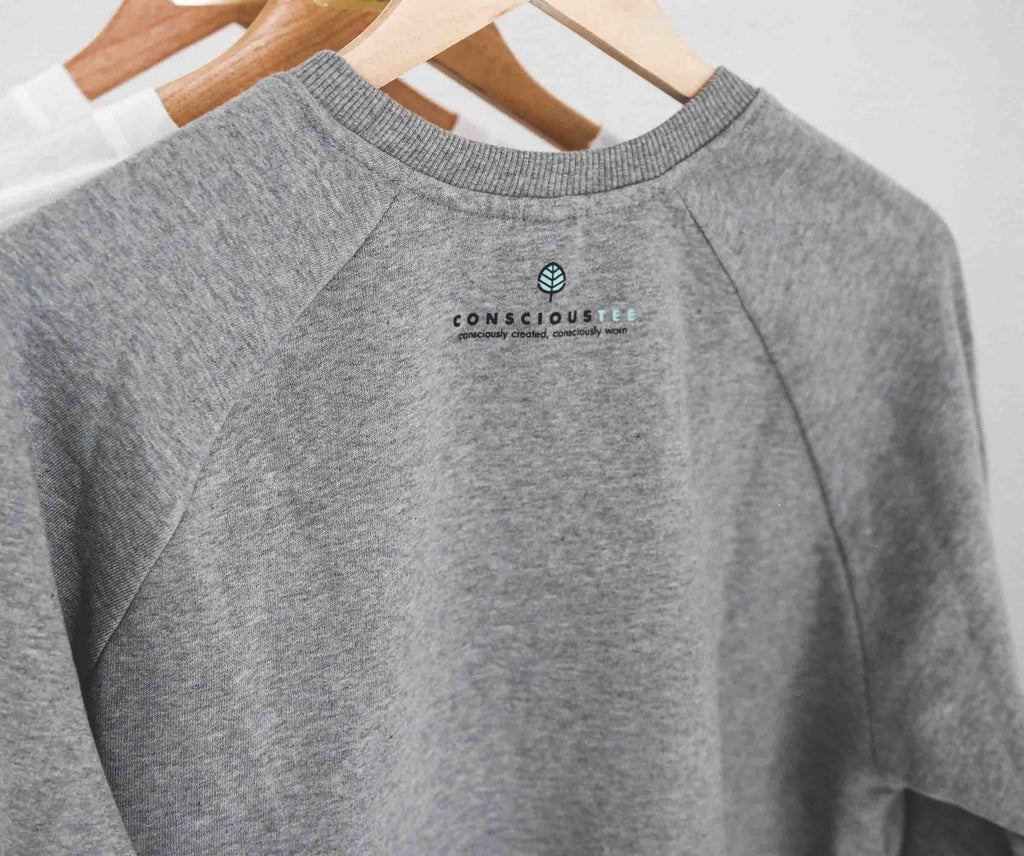 'Keep Going, Keep Growing' organic cotton sweatshirt