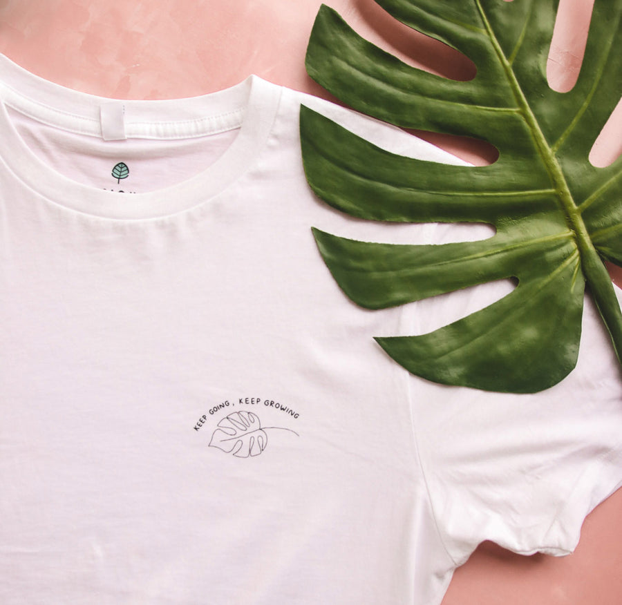 'Keep Going, Keep Growing' organic cotton tee