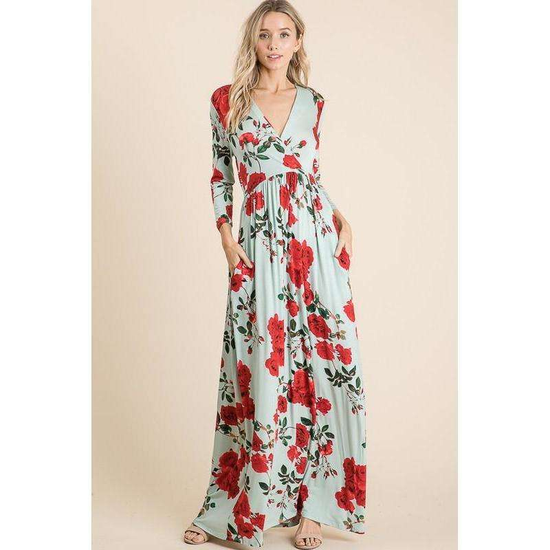 Delilah Maxi Dress (Blush)