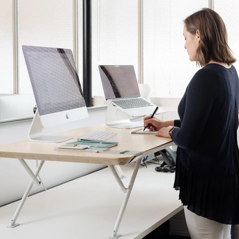 Electric Smart Standing Desk Riser - White