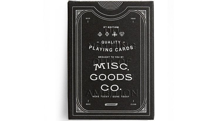 Misc. Goods Company Deck (BLACK)