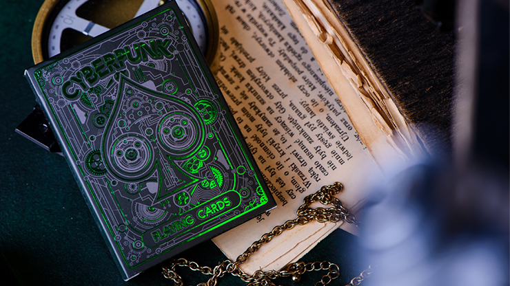 CYBERPUNK Green Playing Cards