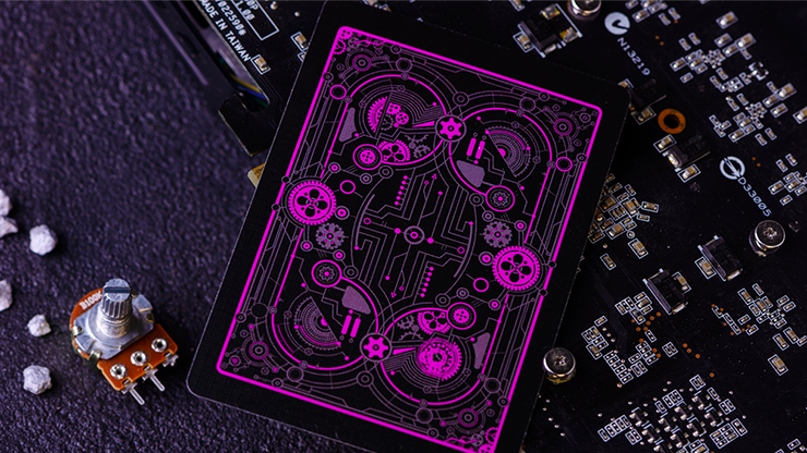 CYBERPUNK Purple Playing Cards