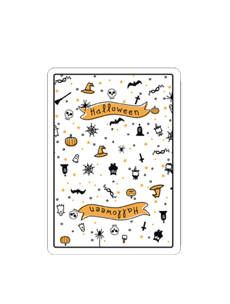 "Halloween ""FEAR"" Deck (WHITE) - Limited"