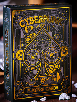 CYBERPUNK Gold Playing Cards