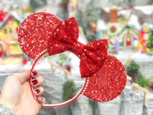 Merry Red Sequin Ears