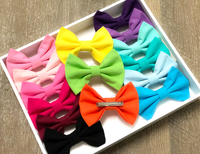 Solid/Striped Bows