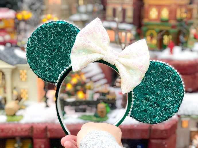 Emerald Holiday Ears