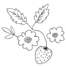 Strawberry Blossom Stamp (1571G)