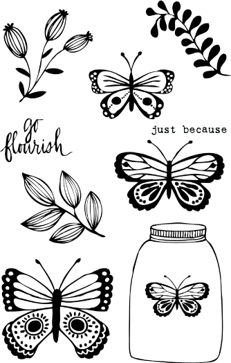 Butterfly Jar Set