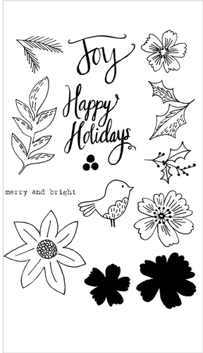 20152 Floral Happy Holidays Set