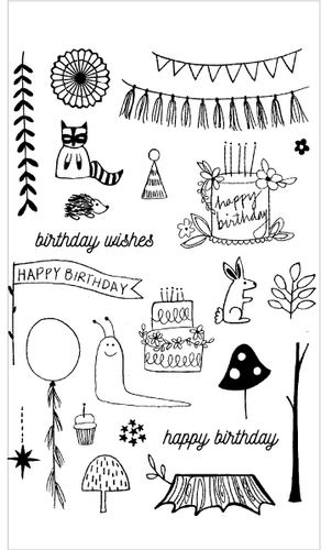 20163 Woodland Birthday Set