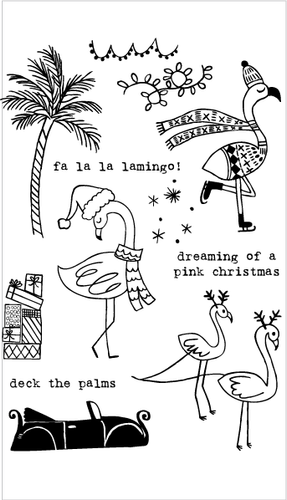20197 Flamingo Holiday Set