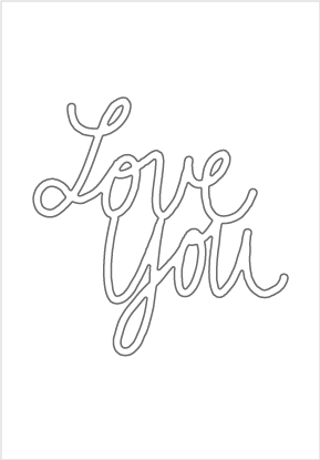 30082 Large Love You Cursive Die