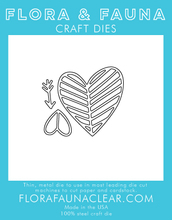30132 Lined Heart Trio Die