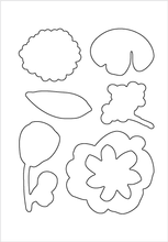 Solid Flower Stamp Set + Die Bundle