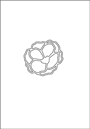 30180 Large Outline Flower